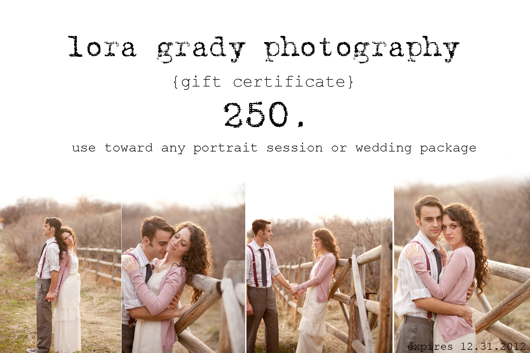Photography Gift Certificate Template Photo Gift Ideas